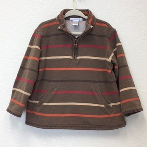 Janie and Jack striped 1/4 zip pullover sweatshirt